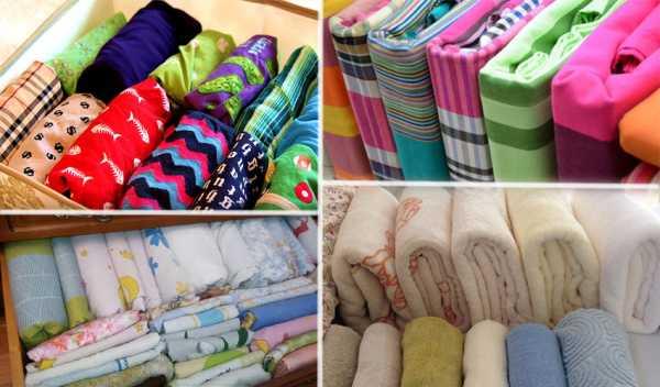 Как сложить полотенца чтобы занимали меньше места