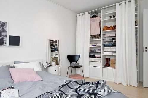шкаф за шторой в интерьере шторы вместо дверей шкафа