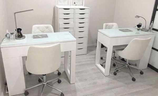 Стандартные размеры маникюрного стола – советы и фото. Размер маникюрного стола